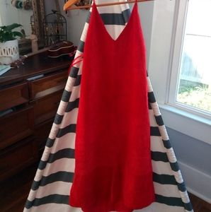 Nine West Dresses - 90s NWT Vintage Nine West Red Leather Dress